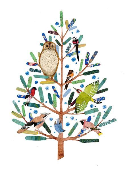 Bird Pine Tree