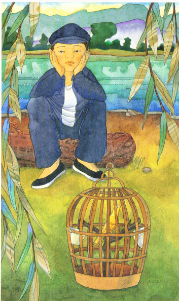 llf and bird in cage