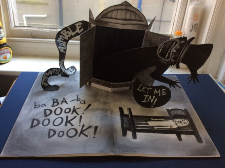 A pop-up book to promote the horror film 'The Babadook' commissioned by Dukes@Komedia.