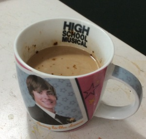 Can't go wrong with a High School Musical mug and some coffee.