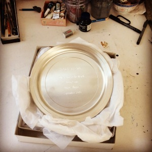 Pewter plate award