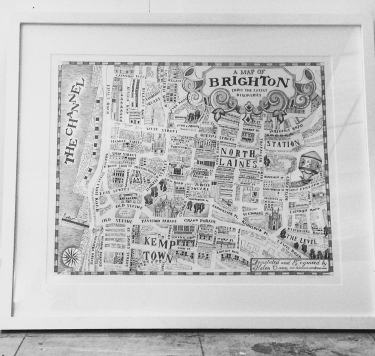Framed map of Brighton