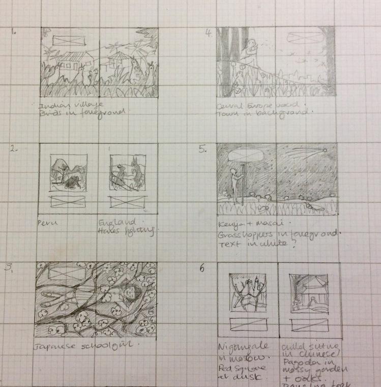 Thumbnail plan for Seasons of Wonder.